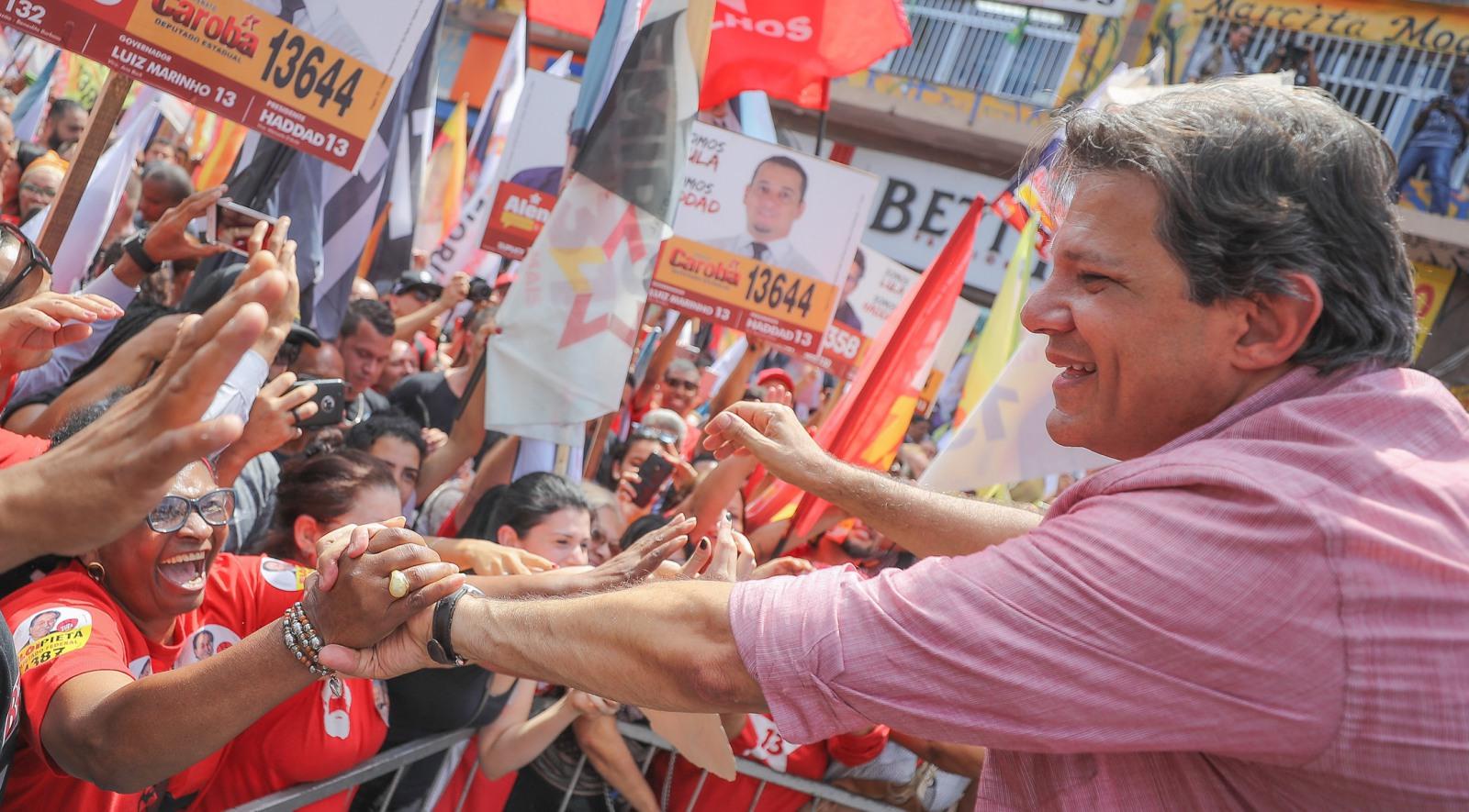 PELA DEMOCRACIA E PELO FUTURO: HADDAD PRESIDENTE