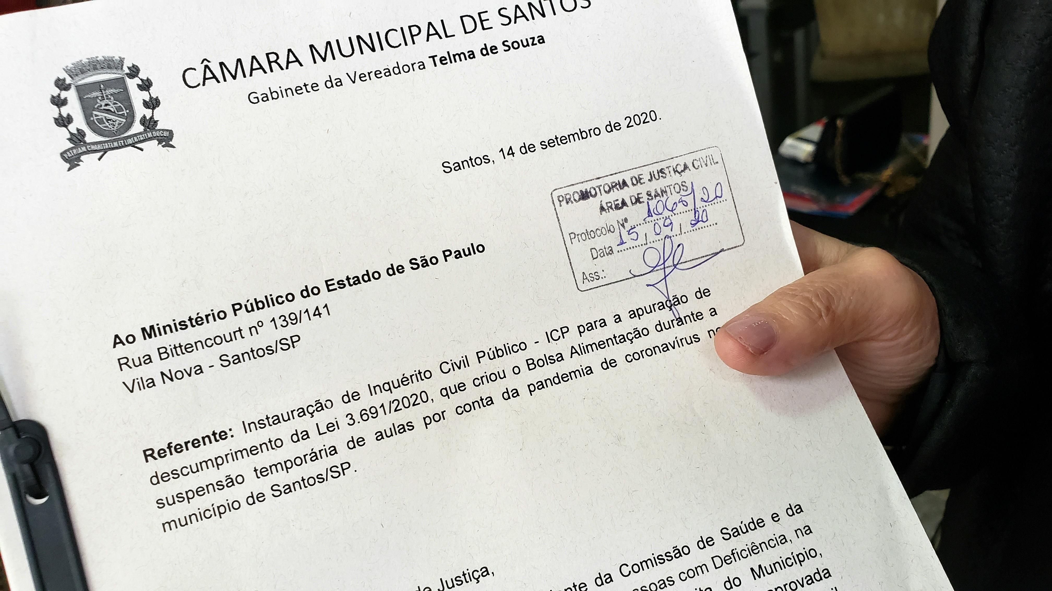 TELMA VAI NOVAMENTE AO MP CONTRA O FIM DO CARTÃO BOLSA ALIMENTAÇÃO